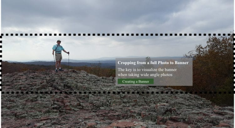 Example of cropping for website banner photo