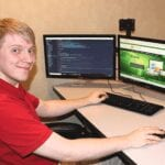 Web developer Mike McGraw at Packerland Websites