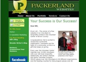 e-newsletter Packereland Websites