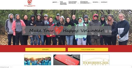 Upgraded website for volunteer center