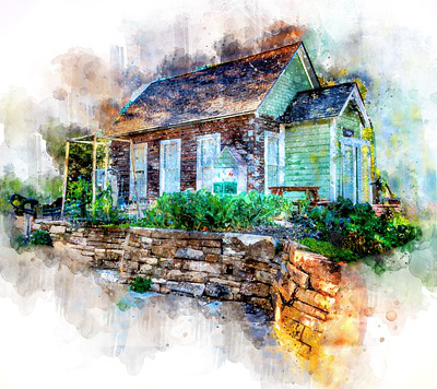 Water Color Painting of a house